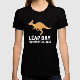 Leap Day February 29th 2020 Leap Year Kangaroo Jump T-shirt