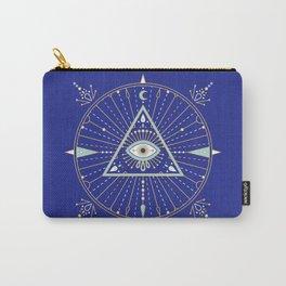 Evil Eye Mandala – Navy Carry-All Pouch