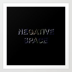 Negative Space Art Print