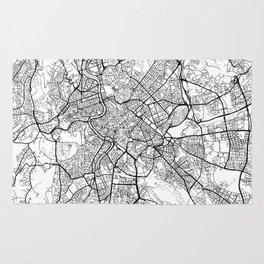Rome Map White Rug