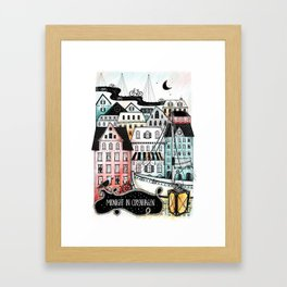 Midnight in Copenhagen Framed Art Print