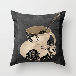 Vintage Cafe II Throw Pillow