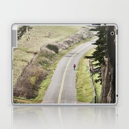 The lonely cyclist Laptop & iPad Skin