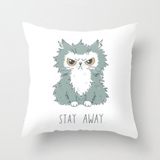 Stay Away Throw Pillow