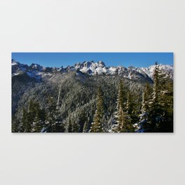 Olympic Mountain Love Canvas Print