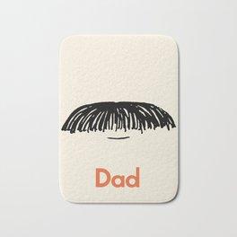 Dad Moustache Bath Mat