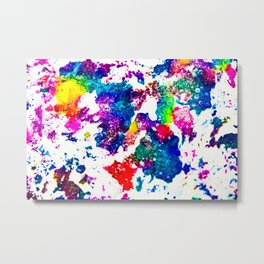 queer radiation —abstract art » modern print » trippy experimental Metal Print