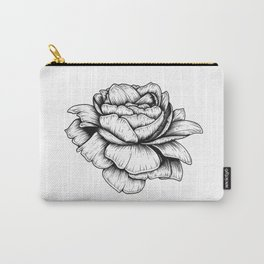 Inked Peony Carry-All Pouch