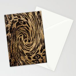 Animal Magnetism Black and  Brown 2 Stationery Cards