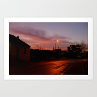Night-time in Krakow 2 Art Print