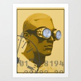 Steampunk Boy Art Print