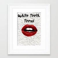 lorde Framed Art Prints featuring White Teeth Teens // Lorde  by Fan Merch