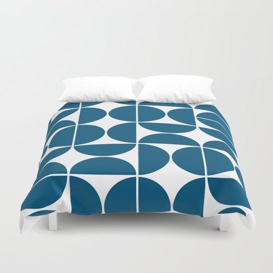 Mid Century Modern Geometric 04 Blue by theoldartstudio