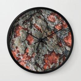 Pink saltcano Wall Clock