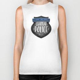Grammar Police Biker Tank