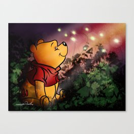 Winnie And The Fire Flies Canvas Print
