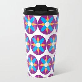 Purple Circle Flower Power Travel Mug