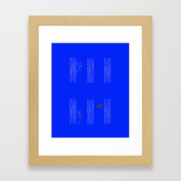Private spaces Framed Art Print
