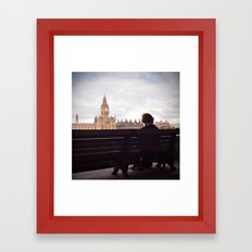London Big Ben with a Guy Framed Art Print