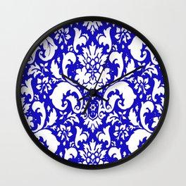 PAISLEY DAMASK BLUE AND WHITE 2019 PATTERN Wall Clock