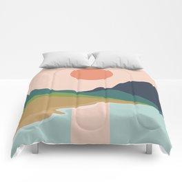 Sun reflection Comforters