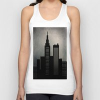 skyline Tank Tops featuring City Skyline  by ALLY COXON