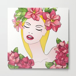 Spring lady Metal Print