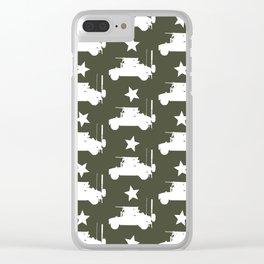 U.S. Military: HMMWV Humvee Pattern Clear iPhone Case