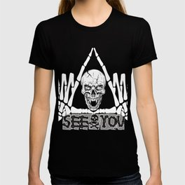 See you bones triangle fingers  T-shirt