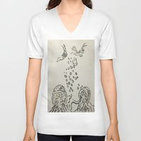 under the sea V-neck T-shirts featuring Under The Sea Sketch by ANoelleJay