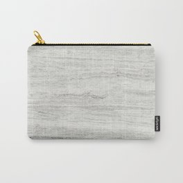 White Gray Marble Carry-All Pouch
