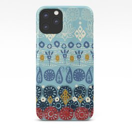 lotus block blue iPhone Case