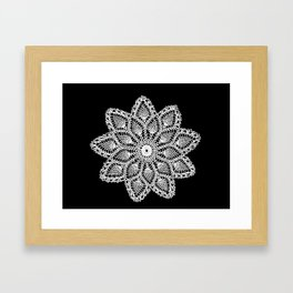 lace round ornament Framed Art Print