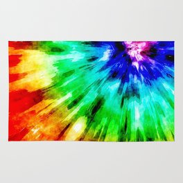 Tie Dye Meets Watercolor Rug