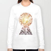 kingdom hearts Long Sleeve T-shirts featuring Kingdom Keyhole (red) by Sevie