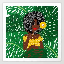 Tropical Gal Art Print