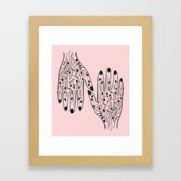 Pomegranate Veins Framed Art Print