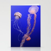 jelly fish Stationery Cards featuring jelly fish by Bunny Noir