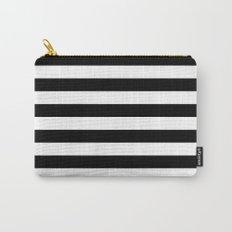 Stripe Black & White Horizontal Carry-All Pouch