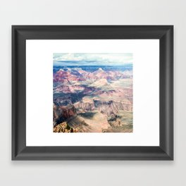 Grand Canyon with Clouds Framed Art Print