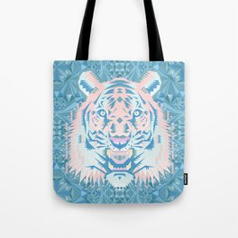Pastel Quartz Tiger Tote Bag