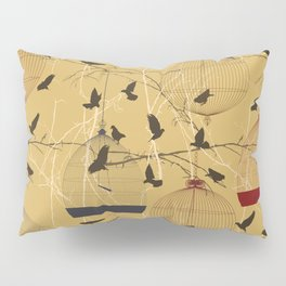 Seamless birdcage composition Pillow Sham