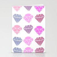 diamonds Stationery Cards featuring Diamonds by Jenny Viljaniemi