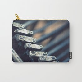 Vintage typewriter closeup detail - Macro Photography #Society6 Carry-All Pouch