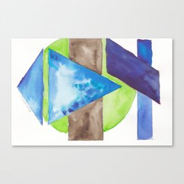 180819 Geometrical Watercolour 8| Colorful Abstract | Modern Watercolor Art Canvas Print