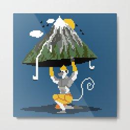 Hanuman Mountain Pixel Art Metal Print