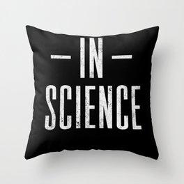 Science Chemistry Physics Teacher Scientist Throw Pillow