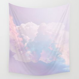 Whimsical Pastel Candy Sky #surreal #society6 Wall Tapestry