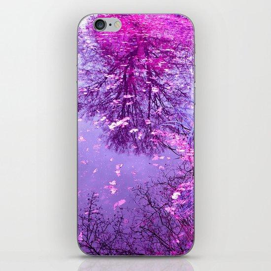 purple garden pond II iPhone Skin