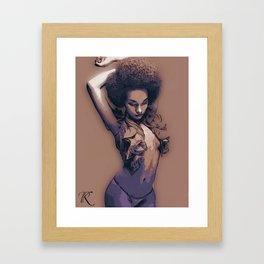 Brown Suga Framed Art Print